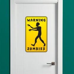 Vinilo warning zombies