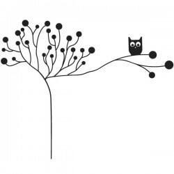 Perchero en vinilo de árbol