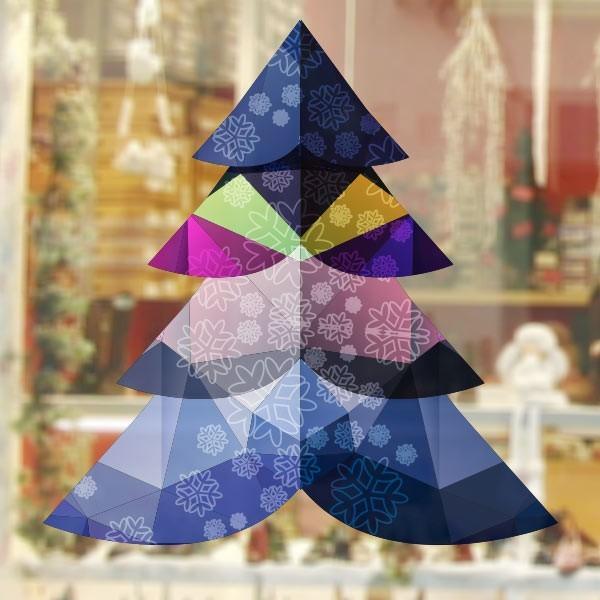 Autocollant arbre polygonal
