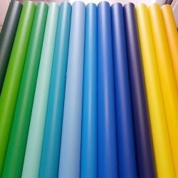 Vinyle au mètre bleu turquoise mat