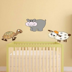Sticker Mural Bébé Hippopotame 1
